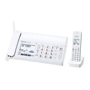 パナソニック ファックス(子機1台付き) KX-PZ210DL-W ホワイト