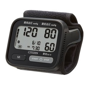 シチズン・システムズ 手首血圧計(電池式)Bluetooth対応 CHWH803 ブラックの画像