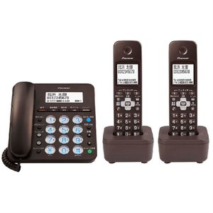 パイオニア デジタルコードレス留守番電話機(子機2台付き) TF-SA36W(BR) ブラウン|ksdenki