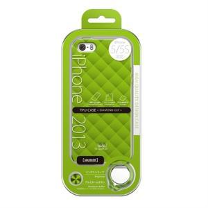 (アウトレット) MSソリューションズ iPhone 5/5S 用ケース ESP3-IP5STDGR グリーン系|ksdenki