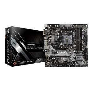 ASRock AMD B450チップセット搭載MicroATXマザーボード B450M Pro4