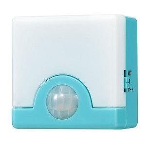 (アウトレット) ELPA 人感センサーライト PIR-SL200(BL) ブルー|ksdenki