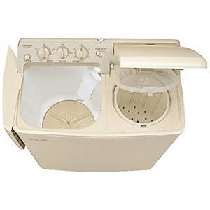 【標準設置無料】日立 二槽式洗濯機 PS-H45L CP パインベージュ 洗濯容量:4.5kg|ksdenki
