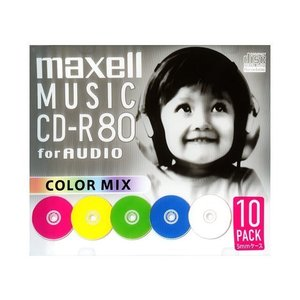 日立マクセル 音楽用CD−R CDRA80MIX.S1P10S|ksdenki