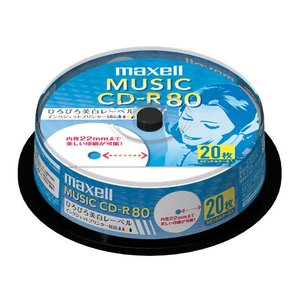日立マクセル 音楽用CD−R CDRA80WP.20SP|ksdenki
