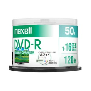 日立マクセル 録画用DVD−R DRD120PWE.50SP ホワイト|ksdenki