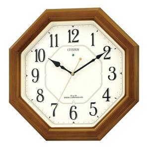シチズン時計 電波木枠掛時計 4MY645-006|ksdenki