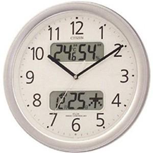 シチズン時計 電波プラ枠掛け時計 4FYA01-019 シルバーメタリック|ksdenki