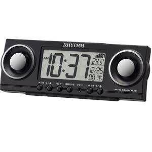 リズム時計工業 電波デジタル置き時計 8RZ177SR02 黒|ksdenki