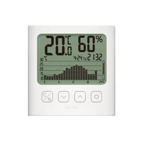 タニタ デジタル温湿度計 TT-580-WH ホワイト|ksdenki