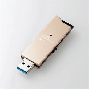 エレコム USBメモリ MF-DAU3128GGD ゴールド 容量:128GB