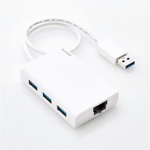 ・挿すだけで使え、高速ネットワーク通信が可能なUSB3.0ギガビットLANアダプター USBハブ付 ...