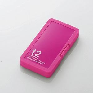 エレコム メモリケース/SD6枚+MicroSD6枚収納/ピンク CMC-SDCPP12PN ピンク|ksdenki
