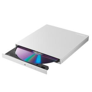 アイ・オー・データ機器 Type−C対応DVDドライブ白 DVRP-UT8C2W パールホワイトの画像