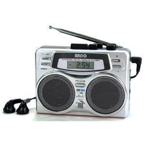 アンドーインターナショナル ラジオ付きテープレコーダー RC7-874D