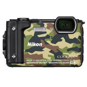 【オススメ商品!】 (アウトレット) ニコン 防水デジタルカメラ COOLPIX(クールピクス) COOLPIX-W300(GR) カムフラージュ|ksdenki