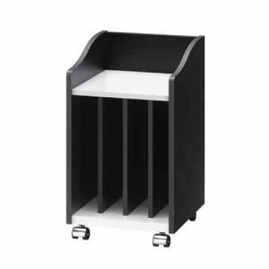 (アウトレット) 朝日木材加工 ピアノワゴン AS-PW30 ブラック×ホワイト|ksdenki