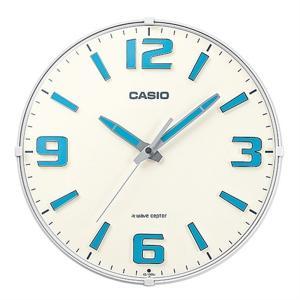 カシオ計算機 電波アナログ掛け時計 IQ-1009J-7JF ホワイト|ksdenki
