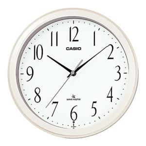 カシオ計算機 電波アナログ掛け時計 IQ-1060J-7JF パールホワイト|ksdenki