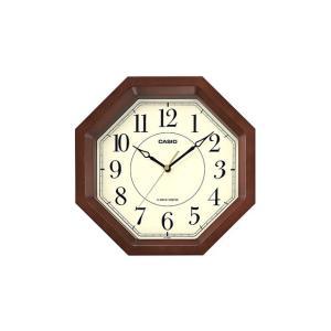 カシオ計算機 電波アナログ掛け時計 IQ-1106J-5JF 濃茶木|ksdenki