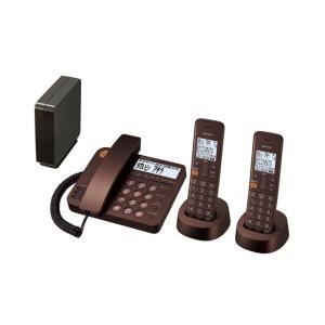 シャープ コードレス留守番電話機(子機2台) JD-XG1CW-T ブラウン系 (ブラウンメタリック)|ksdenki