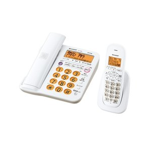 シャープ 親機コードレス留守番電話機 JD-G56CL ホワイト系|ksdenki