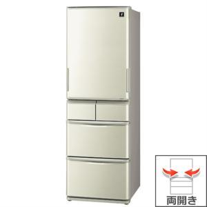 (長期無料保証/標準設置無料) シャープ 冷蔵庫 SJ-W411E-N シャンパンゴールド 左右両開き 内容量:412リットル|ksdenki