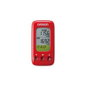 オムロン 活動量計(ごほうびカロリー) HJA-314-R レッド|ksdenki