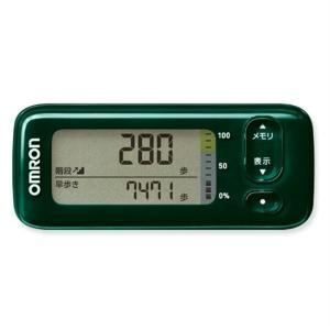 オムロン 活動量計(Bluetooth)階段上り/早歩き HJA-405T-G グリーン|ksdenki