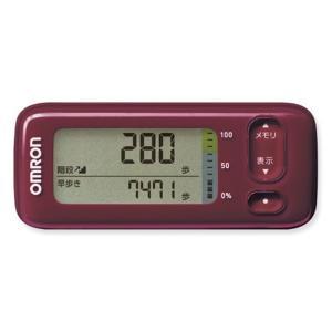 オムロン 活動量計(Bluetooth)階段上り/早歩き HJA-405T-R レッド ksdenki