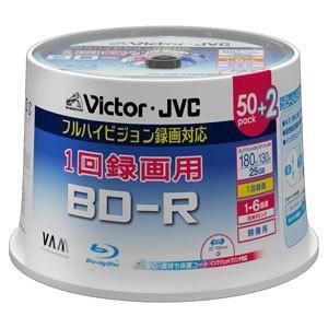 (アウトレット) JVC ブルーレイ−R6倍速52枚ワイドホワイトプリンター BV-R130P52B|ksdenki