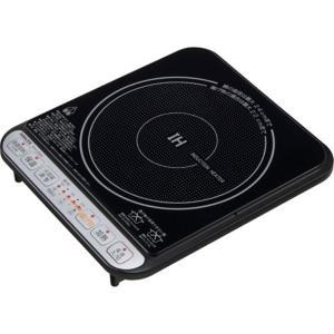 山善 卓上IH調理器 KIH-L14D(BK)-2 ブラック|ksdenki