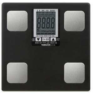 山善 体組成計(50g測定/自動認識) HCF-385 ブラック|ksdenki