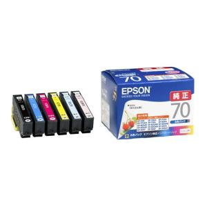 エプソン インクカートリッジ(6色パック) IC6CL70 ブラック/シアン/マゼンタ/イエロー/ライトシアン/ライトマゼンタ|ksdenki