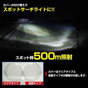 LED サーチライト 投光器 185w 24v 12v 兼用 船 重機に 広範囲照射 CREEチップ5w×37発|ksgarage|03