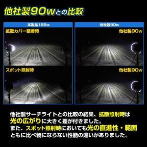 LED サーチライト 投光器 185w 24v 12v 兼用 船 重機に 広範囲照射 CREEチップ5w×37発|ksgarage|04