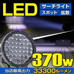 LED サーチライト 24v 12v 兼用 スーパーハイパワー 370w 照射距離700m 船 ボー...
