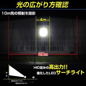 船 サーチライト LED 60w 24v 12v 兼用 スポットタイプ 防水 ボートの前照灯 600m照射|ksgarage|04