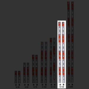 マイゾックス アルミ製標尺 ニューアルロッド 60mm幅 150cm N-150|ksi-webshop