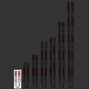 マイゾックス アルミ製標尺 ニューアルロッド 60mm幅 30cm N-30|ksi-webshop