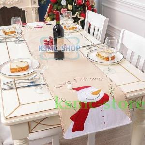 テーブルランナー クリスマスプレゼント ギフト 北欧 贈り物 おしゃれ サンタクロース スノーマン ...