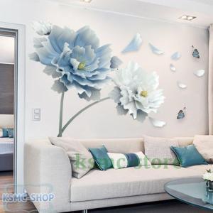 ウォールステッカー ウォールシール 花 植物 壁シール 壁紙シール 壁面装飾 壁装飾 室内装飾 イン...