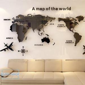 3D 世界地図 ウォールステッカー 壁紙 diy 飾り はがせる 装飾 おしゃれ シール 防水 壁 ...