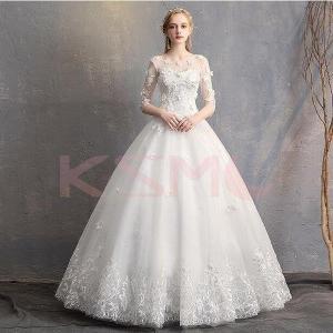 ウェディングドレス 結婚式 花嫁  エンパイアドレス  白ドレス  ロングドレス  披露宴