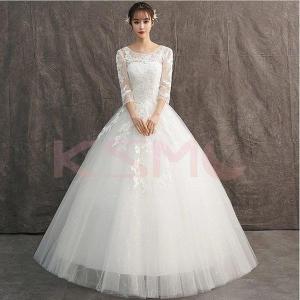 ウェディングドレス 結婚式  二次会 ホワイト  花嫁  ウェディング  プリンセスドレス  白ドレ...