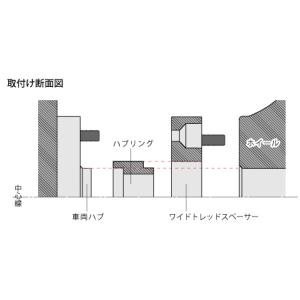 DIGICAM ワイドトレッドスペーサー&ハブリングセット P.C.D.114.3-4H/5H-10mm(P1.25)_[12114]|kspec|03