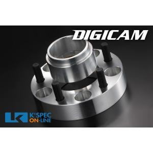 DIGICAM ワイドトレッドスペーサー&ハブリングセット P.C.D.114.3-4H/5H-25mm(P1.25)_[12114]|kspec