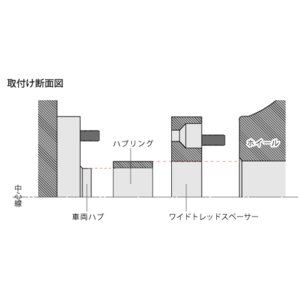 DIGICAM ワイドトレッドスペーサー&ハブリングセット P.C.D.100-4H/5H-20mm(P1.5)_[15100]|kspec|05