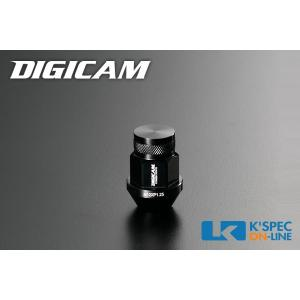 DIGICAM アルミレーシングナット 20本セット 19HEX 袋タイプ 35mm/ブラック_[AN6F351]|kspec