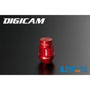 DIGICAM アルミレーシングナット 20本セット 19HEX 袋タイプ 35mm/レッド_[AN6F351]|kspec